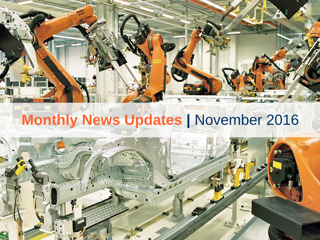 Monthly News Updates – November 2016